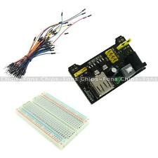 MB-102 400 Point Solderless PCB Breadboard+Jump Cable Wires 65pcs+Power Supply C