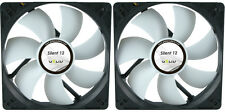 2 x GELID Solutions Silent 12 120mm Case Fans 1000 RPM, 37 CFM, 20.2 dBA