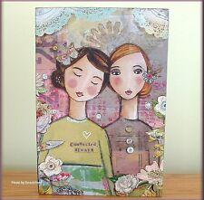 """CONNECTED ALWAYS WALL ART BY KELLY RAE  ROBhERTS 12"""" HIGH X 8"""" WIDE FREE SHIP"""