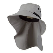 Juniper Womens Wide Brim Outdoor Sun Neck Protection Fishing Flap Hat Grey 7213B
