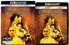CROUCHING TIGER HIDDEN DRAGON 4K ULTRA HD BLU RAY + SLIPCOVER FREE WORLDSHIPPING