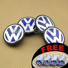 4 CAR ALLOY WHEEL RIM CENTER LOGO CAP HUB 66mm for VW VOLKSWAGEN BLUE 3B7601171