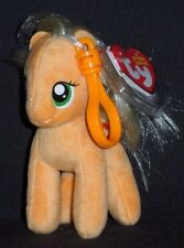 TY APPLE JACK (MY LITTLE PONY) BEANIE BABY KEY CLIP - MINT with MINT TAGS