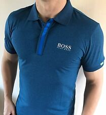 Hugo Boss Fitted Polo Top tshirt BNWT New Light Blue size Large *green label*