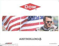 """2015 AUSTIN DILLON """"AMERICAN FLAG 2/3 DOW CHEVY"""" #3 NASCAR SPRINT CUP POSTCARD"""