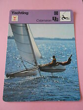 Yachting Catamaran le grand frisson  Fiche Card 1978