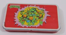 Vintage 1980s Teenage Mutant Ninja Turtles Pencil Tin Box Marker RARE!!!