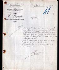 """GARANCIERES (78) EPICERIE MERCERIE CHAUSSURES BONNETERIE """"E. LAPORTE"""" en 1918"""