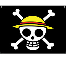 NEW Straw Hat Luffy's Large Pirate Flag (GE-6468) One Piece Wall Decoration