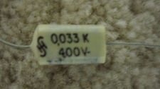 25 Siemens Polyester axial capacitors .033uf 400v   NOS