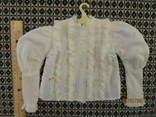 Antique or Vintage Doll Blouse w/Lace & Tucks for Antique China, French Fashion