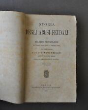 Diritto Feudi Winspeare Storia Abusi Feudali Regime Feudale 1883