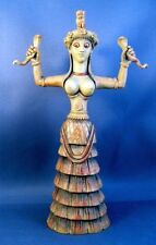 Minoan Snake Serpent Goddess of Crete Ariadne from Knossos Palace Statue #SGC