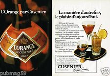 Publicité advertising 1980 (2 pages) Liqueur Cusenier