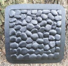 "cobblestone heavy duty abs plastic stepping stone mold mould 12"" x 1.25"" thick"