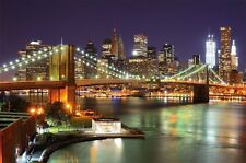 Brooklyn Bridge wallpaper New York City 82.7 Inch x 55 Inch (210 cm x 140 cm)