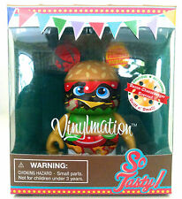 "DISNEY VINYLMATION 3"" SO TASTY SERIES BACON CHEESEBURGER SCENTED PARK TOY FIGURE"