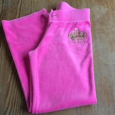 Juicy Couture kids bright pink lounge pants jogging trousers size M