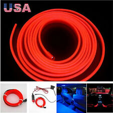 New 2M 12V EL Wire Cold light lamp Neon Lamp Car Atmosphere Lights Unique Decor