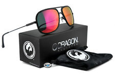 New Dragon B-CLASS Aviator Sunglasses | Matte Black with Plasma Ion Mirror Lens