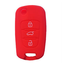 Red Silicone Fob Skin Key Cover Jacket Protector Keyless Remote fit for Kia