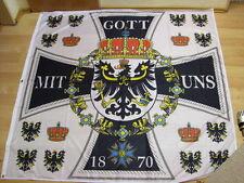 Fahnen Flagge Standarte des Königlichen Hauses 1858 - 150 x 150 cm