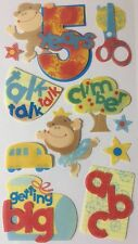 5 YEARS OLD Dimensional Sticker (10pc)Sticko•Talk•Climber•Monkey •ABC•School•Bus