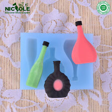 Bottle Resin Crafts Molds Chocolate Candy Moulds Fondant Cake Decoration Molds