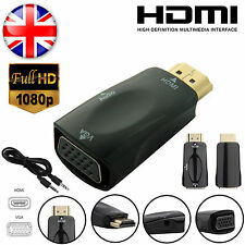 Macho Hdmi A Vga Hembra 1080p Video Converter Adaptador Con Audio de 3.5 mm Cable