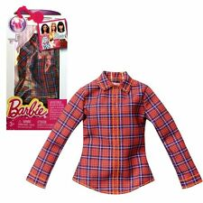 NEW! 2016 BARBIE FASHIONISTAS FASHION PACK SEPERATES CASUAL PLAID TOP SHIRT