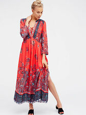 Free people If You Only Knew Maxi Dress Color: pimento combo size L