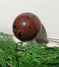 Mahogany Obsidian Solid Crystal Sphere - 40mm Diameter Complete with Stand