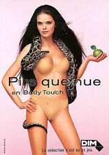 DIM BODY TOUCH CARTE POSTALE MANNEQUIN PIN-UP