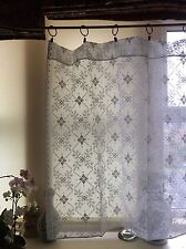 "Trellis Laura Ashley Victorian style White cotton lace curtain panel 50""by 34"""