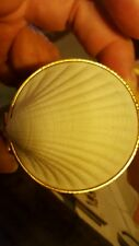 Estee Lauder White Linen  RARE SHELL TRINKET BOX Md in Japan W Mini Perfume$85
