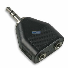 3.5mm TWIN 2 X Mono Prese a 1 X Spina Stereo Y Splitter Cavo Audio Adapter