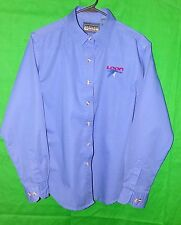 Harvard Square Loon Blue Long Sleeve Button Front Casual Shirt Medium