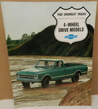 C 10 4X4 4 WHEEL DRIVE FLEETSIDE KS PICKUP DEALERSHIP 1968 TRUCK CHEVY BROCHURE