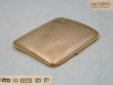 RARE GEORGE VI HM 9ct GOLD ART DECO CIGARETTE CASE 1942