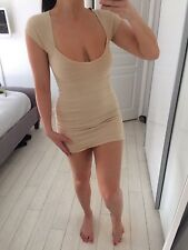 SUPER SEXY WOMENS NEW MINI DRESS BANDAGE WIGGLE HOT DRESS IN NUDE SIZE 8