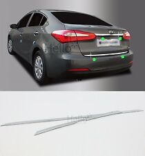 Rear Trunk Chrome Garnish Molding Trim 2p For 2013 2014 2015 KIA FORTE K3 CERATO