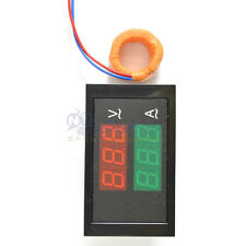 Digital LED AC 80-300V 100A Voltmeter Ammeter Panel Amp Volt Dual Display LS