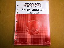 Honda 1998 GX22 GX31 Generator Service Shop Repair Manual