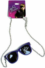 GIRLS JUSTIN BIEBER JEWELLERY MINI GLASSES ON A CHAIN NECKLACE  BNWT
