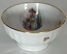 Bol souvenir de communion en porcelaine et émaux de Limoges