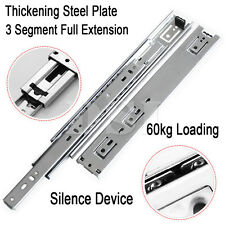 2 x 24'' Double Fully Extension Ball Bearing Drawer Slide Runner Heavy Duty 60kg