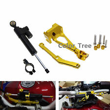 CNC Steering Damper Stabilizer&Bracket Kit Mount For YAMAHA MT-09 2013-2015