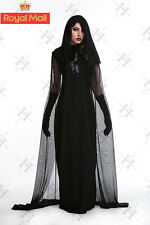 New Ladies Womens The Woman in Black Halloween Costume Fancy Party Dress 2015