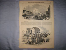 ANTIQUE 1855 OSTEND BELGIUM PRINT BASIN OF COMMERCE MARITIME WEST FLANDERS NR