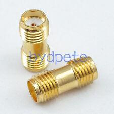 2pcs SMA female jack to SMA female jack Straight RF Connector Adapter